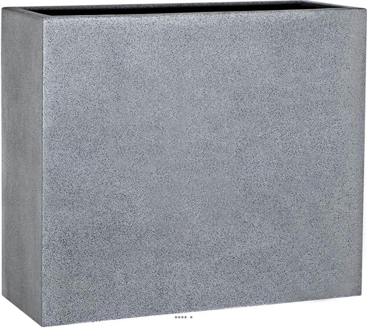 Bac fibre de verre teras cube gris ext du site pas cher g - Claustra composite gris ...