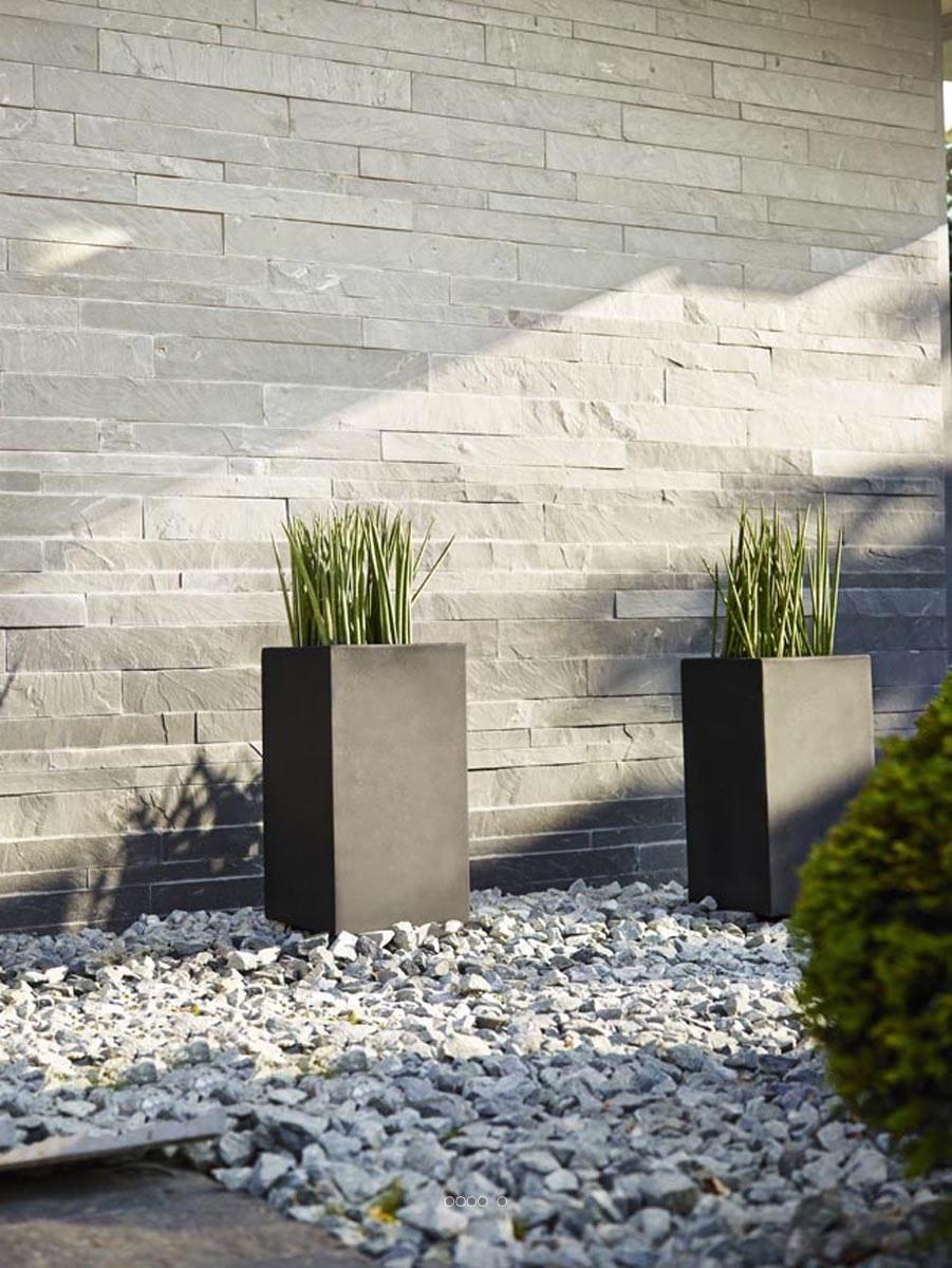 Bac fibre de verre teras claustra noir ext du site pas cher garantie 10 ans - Jardinieres fibre de terre exterieur ...